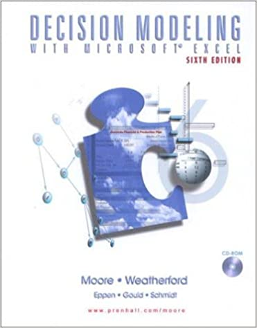 Decision modeling with microsoftr excel 6th edition jeffrey h decision modeling with microsoftr excel 6th edition jeffrey h moore larry r weatherford 9780130177896 amazon books fandeluxe Image collections