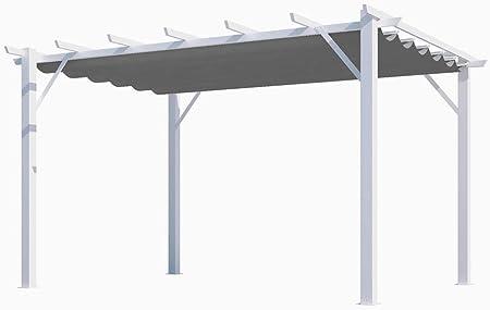 HABRITA - Pérgola 100% de Aluminio, Tela Gruesa de 12 m2 ...