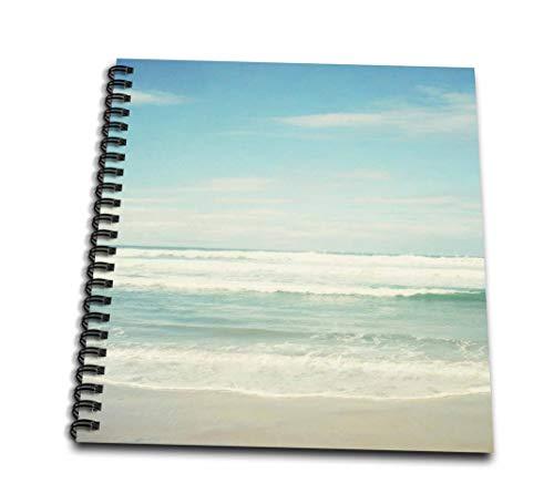 3dRose db_164479_2 海の波 ビーチ テーマ アート - メモリーブック 12x12インチ