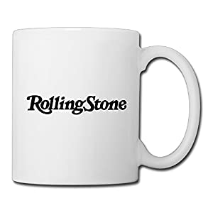Christina Rolling Stones Logo Ceramic Coffee Mug Tea Cup White