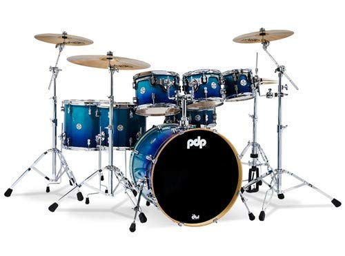 PDP Concept Maple 7-Piece Shell Pack - Gloss Blue Fade