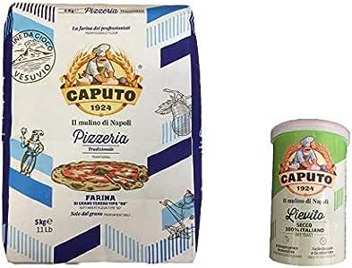 Harina Pizzeria Caputo Kg. Levadura Seca 5 + 100 Gr - Mulino Caputo: Amazon.es: Alimentación y bebidas