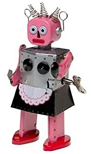 Tin Roxy the Wind-Up Robot