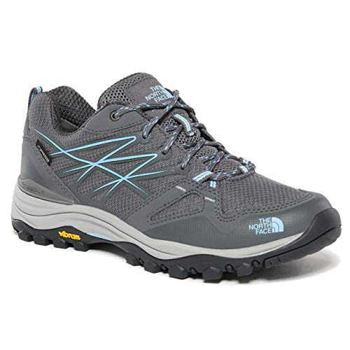 The North Face Womens Hedgehog Fastpack Gore-Tex Waterproof Hiking Shoes - Zinc Gray/Airy Blue - 8