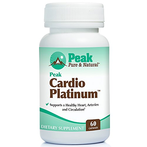 Peak Cardio Platinum by Peak Pure & Natural | Vitamin K2 as MK7 Supplement for Healthy Arteries and Circulation | Nitric Oxide and Nattokinase for Better Blood Flow | 60 -