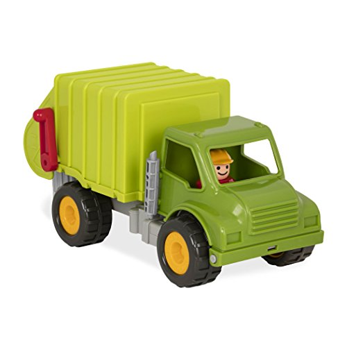 Battat - Garbage Truck with 2 Garbage Bins and 1 Driver - Toy Trucks for Toddlers 18m+ (4-Pcs) (Garbage Management Waste Collection)