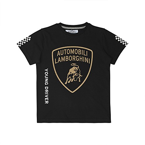 Amazon.com: Lamborghini Big Shield Kidu0027s T Shirt Black (4 Years): Clothing