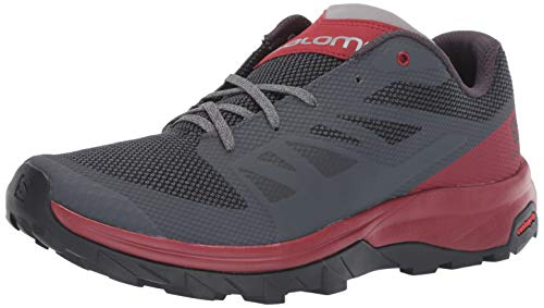 Salomon Men's Outline Hiking Shoes, Ebony/Red