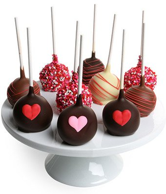 From You Flowers - Love Chocolate Cake Pops - 10 Pieces (Flowers Cookie Delivery)