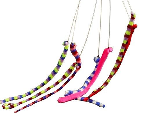 Wiggle Worm Infant Costumes (Toyland Cat/dog Toy Coloured Wiggly Worm On Stick)