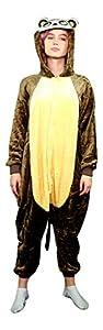 Emolly Adult Animal Monkey Onesie Pajamas Costume