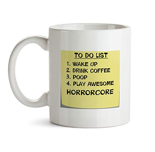Horrorcore Music Gift Mug - AA53 To Do List Post It Note Funny About Musical Lover Quote Theme Themed Coffee Gift Novelty Cup For Teacher Director Player For Men Women