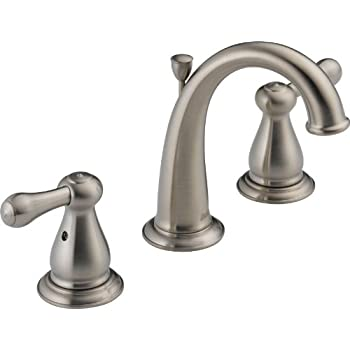Delta 3594lf Ssmpu Linden Two Handle Widespread Bathroom Faucet Stainless Touch On Bathroom