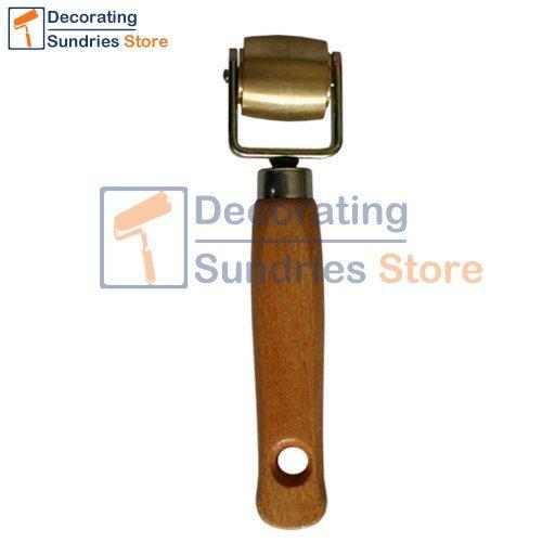 Brass Seam Roller Wooden Handled | Wallpaper Vinyl Seam Roller Franpin