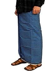 Riyashree men's cotton lungi for men free size 2 meter
