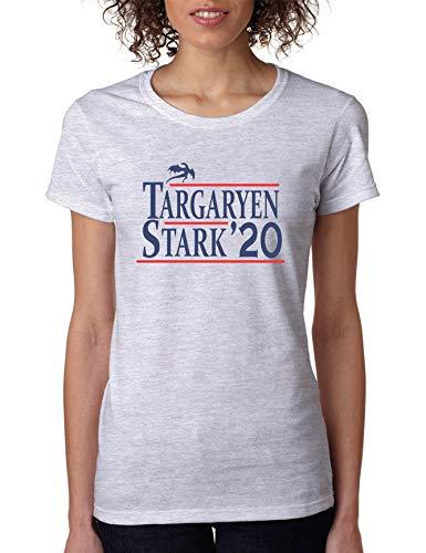 Allntrends Women's T Shirt Targaryen Stark 2020 Trendy Shirt Popular Stark Tee (L, Ash)