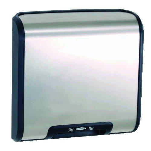 Stainless Steel/Black Bobrick TrimLine ADA Automatic Hand Dryer, 115V, 1725 Watts - BMC-BOB 7128 115V Miller Supply Inc.