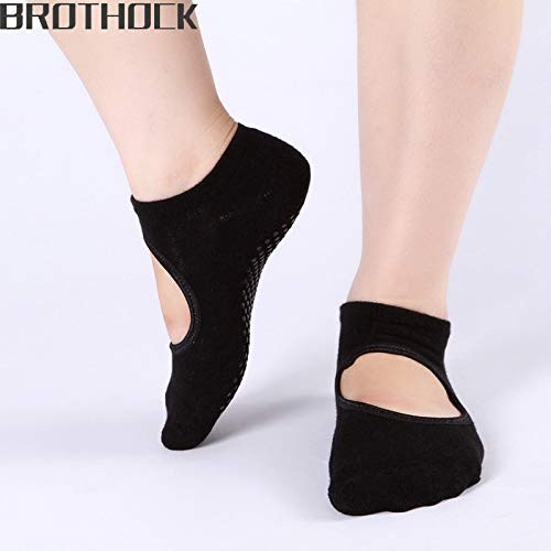 CUSHY hock direct ladies cotton slip women backless dug Yoga socks Foot loops bottom shock absorber sports socks: Color