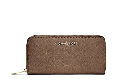 d025c64b5f34 Image Unavailable. Image not available for. Colour  Brand New Original MK  Michael Kors Set Travel Zip-Around Saffiano Leather Continental Wallet DARK