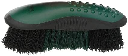 """Tough 1 Finishing Brush with Hand Strap and 1/"""" Bristles for Horse Grooming"""