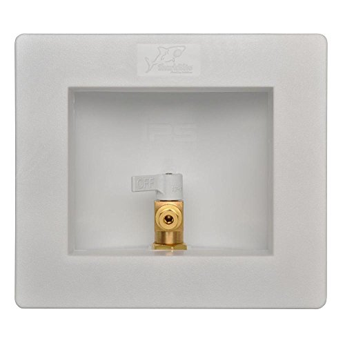 - Sharkbite 25032A Ice Maker Outlet Box, 1/2 inch x 1/4 inch Compression, Push-to-Connect Copper, PEX, CPVC, PE-RT Pipe