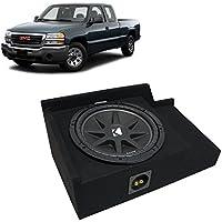 1999-2006 GMC Sierra Ext Cab Truck Kicker Comp C12 Single 12 Sub Box Enclosure - Final 4 Ohm