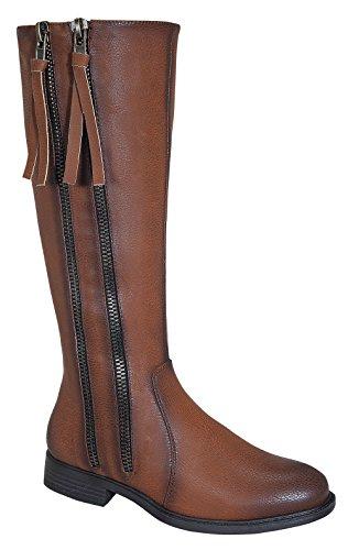 Pita-38 Women's Dual Zipper Design Knee High Causal Rider Boots