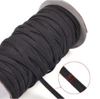 Top Hunter Black 70-Yards Length 1/4 Width Braided Elastic Cord/Elastic Band/Elastic Rope/Bungee/Black Heavy Stretch Knit Elastic Spool (black) BCAC17527