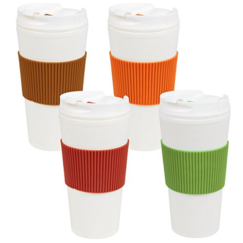 Double-Wall Plastic Travel Mugs for HOT & Cold, 16 oz.