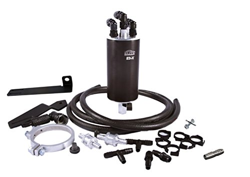 Elite Engineering E2-X PCV Oil Catch Can and Hardware with Check Valve & Clamps (X2), and Clean Side Separator for Dual Valve C7 Z06 Corvette