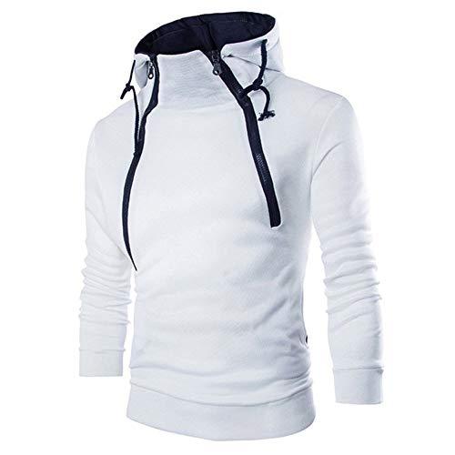 Men's Fahsion Pure Polid Hooded Long Sleeve Hoodie Sweatshirt Top Tee Blouse Coat -