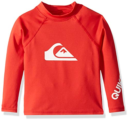 Silver And Red Suit - Quiksilver Big Boy's All Time Long