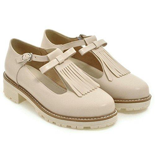 Coolcept Zapatos T-bar con Flecos para Mujer apricot