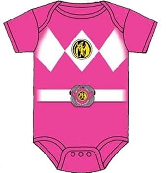 c5c17c04d Amazon.com : Power Rangers Pink Ranger Infant Baby Romper Snapsuit Costume  (6-12 Months) Color: Pink Size: 6-12 Months Model: Baby