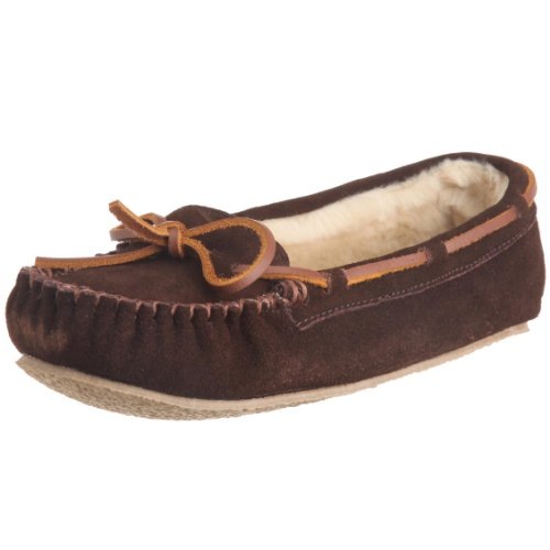 Zapatillas Slipper Mujer Para Cally Casa Marrón Brown W chocolate Estar Minnetonka De Por tqOHzx