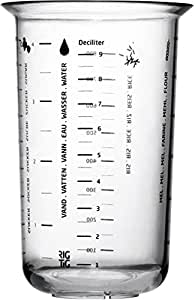 Rig-Tig Measuring Cup, 1 L., Cup with American Metric System, Plastic, Ø 11,7 cm, Z00203