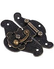Hasp, retro lock grendel sluitingen hardware hasp grendel, voor houten kist voor juwelendoos(Medium 66 * 54mm)