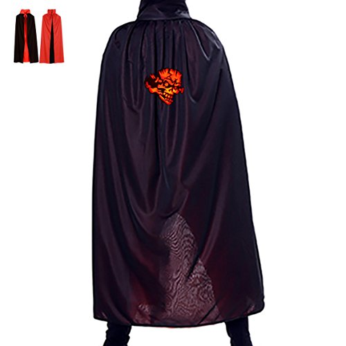 Rock Star Costume Party City (Evil Clown Halloween Cloak Adult Costumes Ferocious Fire Mock Man Red Reversible)