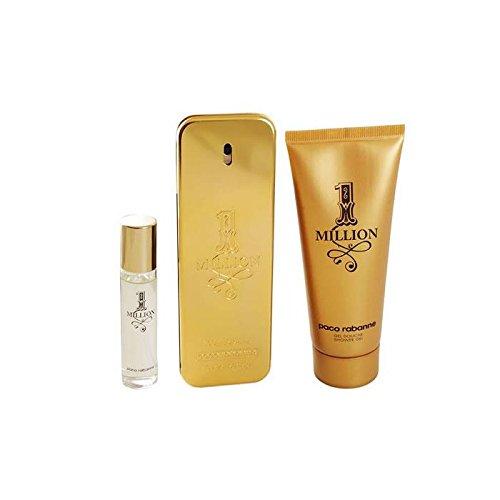 1 Million by Paco Rabanne Eau de Toilette Spray 100ml, Shower Gel 75ml & Eau de Toilette Spray ()