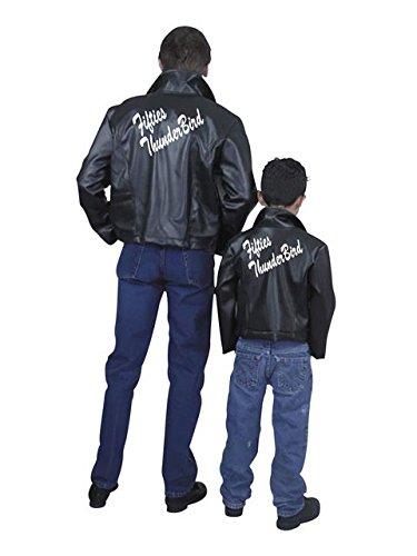 [Charades Men's Fifties Thunderbird Jacket, Black, Large] (50s Mens Costumes)