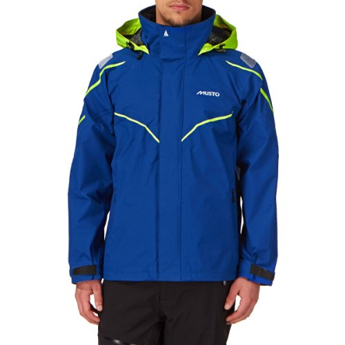 Musto BR1 Inshore Jacket in Surf Blue/Fluorescent Yellow SB1227