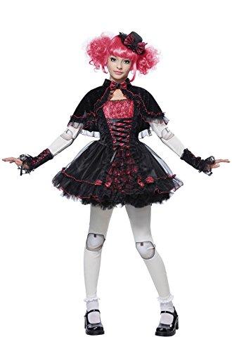 Mememall Fashion Victorian Charming Doll Dress Girls Child Costume (Child Blue Ranger Muscle Costume)
