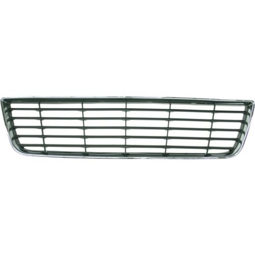 (Make Auto Parts Manufacturing Center Chrome Shell With Gray Insert Horizontal Bar Bumper Cover Grille Plastic For Chevrolet Impala 2006-2011 - GM1036106)
