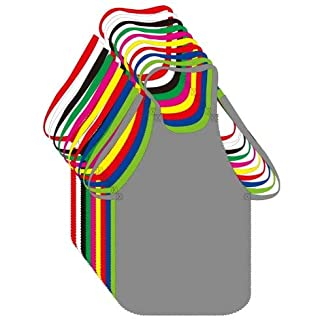 Home, Garden, Crafts 20 Medium Size Colorful Disposable Artist Aprons for Art, School, Kitchen, Parties, Events-for Children Above 7 (20-Pack) Generic
