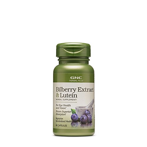 (GNC Herbal Plus Bilberry Extract and Lutein, 60 Capsules, Herbs, Provides Eye Health and Vision Support)