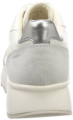 Femme White Gendry Blanc Basses Geox Sneakers Off B Cassé wTvPx4q7