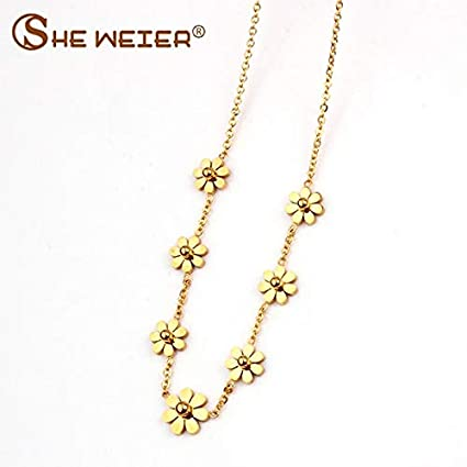 Metal Color: Silver Davitu Stainless Steel Chain Vintage Chocker Best Davitu Necklaces /& Pendants Indian Jewelry Womens Clothing Accessories