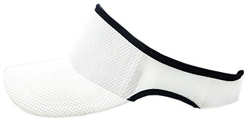 [ビッグワッチ]帽子 無地 メッシュ ラウンド サンバイザー SBMG-03R メンズ ホワイト L XL 大きいサイズ