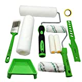 Magimate Paint Roller Kit 9 Inch 4 Inch Roller Set with Frames, Cover Refills, Angled Brush, Paint...