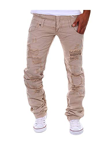 Extérieur Pantalons Printemps Décontracté De Moderne Des Kaki Déchiré Automne Loisirs Hommes Pure Avec Couleur Libre Décontractés nr8RWIx8
